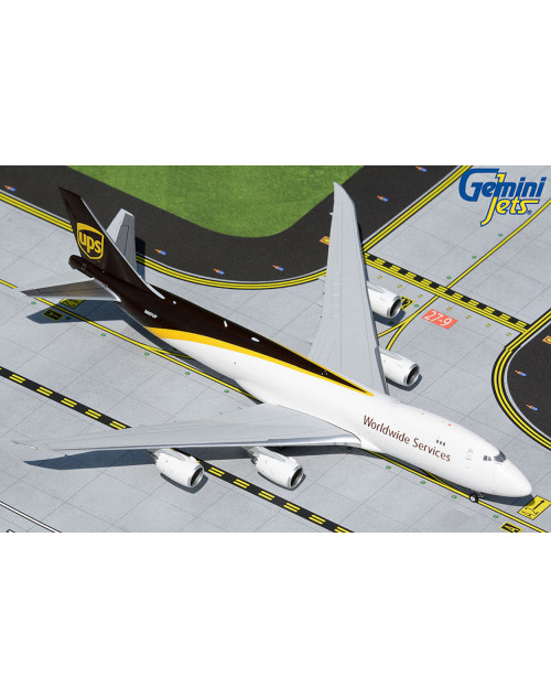 UPS Boeing 747-8F N607UP current colors 1/400 scale diecast Gemini Jets