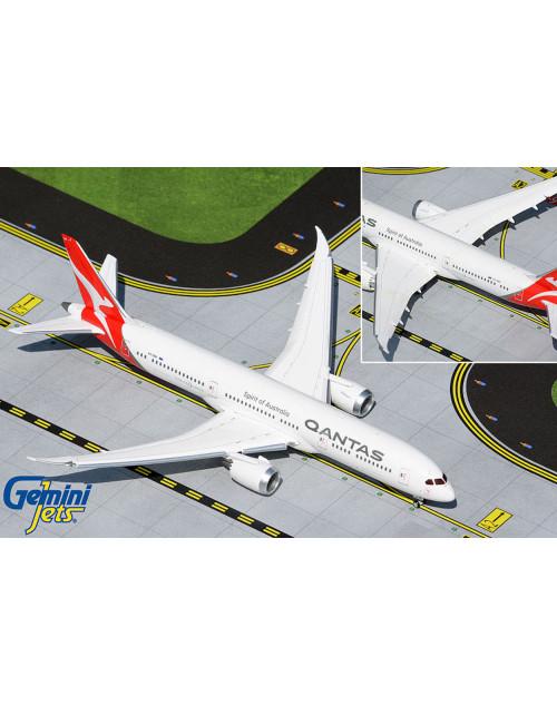 Qantas Boeing 787-9 VH-ZNK Flaps down configuration 1/400 scale diecast GeminiJets