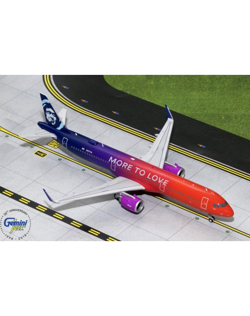 Alaska Airbus A321-253Neo N927VA More to Love 1/200 scale diecast GeminiJets