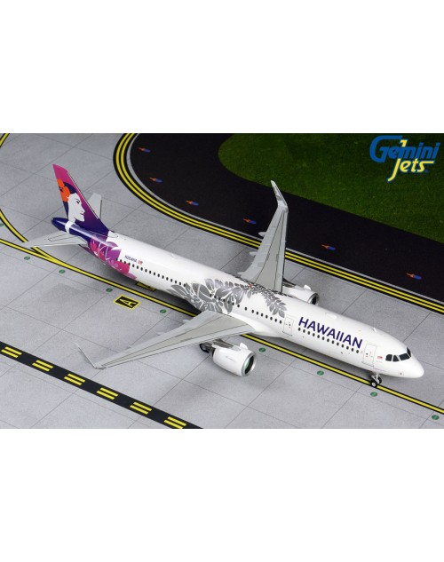 Hawaiian Airbus A321-271Neo N204HA New colors 1/200 scale diecast GeminiJets