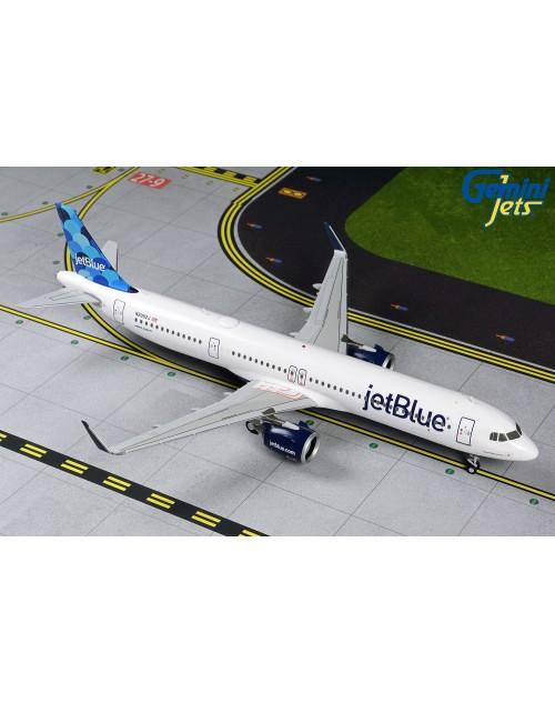 JetBlue Airbus A321Neo N2002J Baljoons 1/200 scale diecast GeminiJets 200