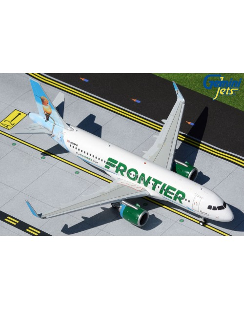 Frontier Airbus A320Neo N318FR Hummingbird 1/200 scale diecast Gemini jets