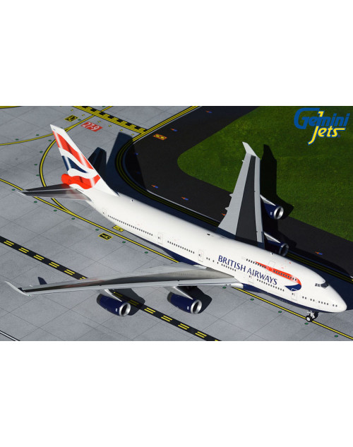 British Airways Boeing 747-400 G-CIVN Union Flag 1/200 Scale diecast Gemini 200