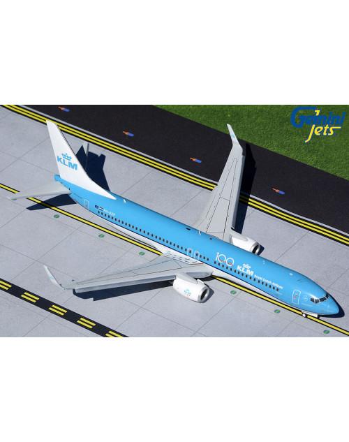 KLM Boeing 737-9K2 PH-BXP KLM 100 Flaps Down 1/200 scale diecast GeminiJets