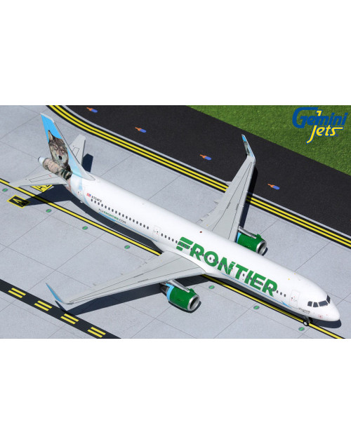 Frontier Airbus A321-211 N704FR Virginia the Wolf 1/200 scale diecast GeminiJets