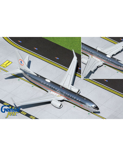 American Boeing 737-800/W N905NN AstroJet, Flaps down configuration 1/200 scale diecast Gemini jets