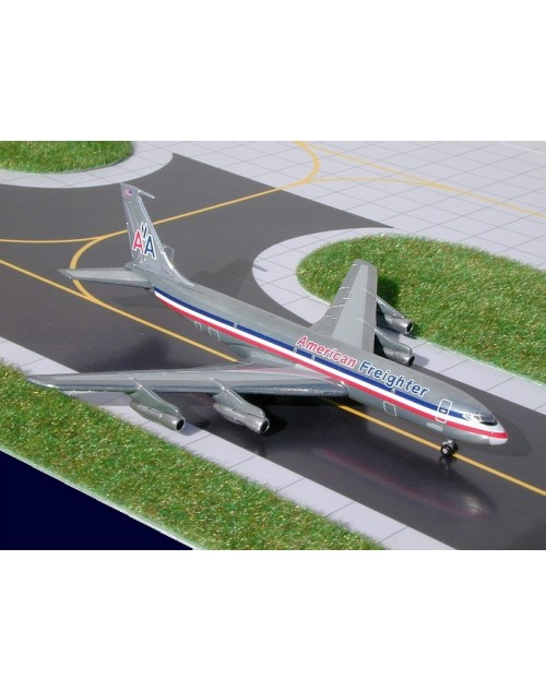 American Freighter Boeing 707-323C N7555A Chrome CR Smith Museum release 1/400 scale diecast GeminiJets