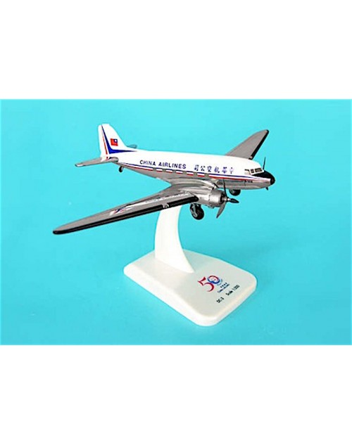 China Airlines Douglas DC-3 50th Anniversary Commemorative 1/200 scale diecast Hogan Wings Models
