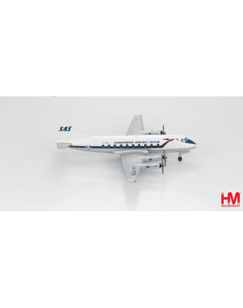 SAS - Scandinavian Airlines System Vickers Viscount 802 LN-FOM 1/200 scale diecast Hobby Master Models
