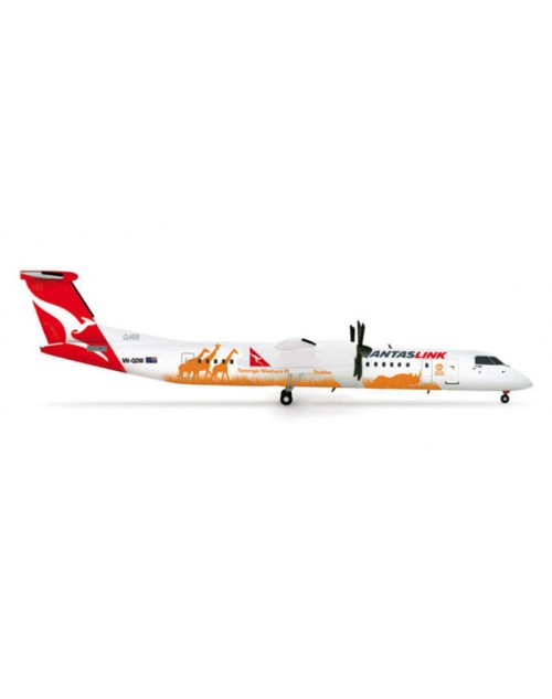 QantasLink Bombardier Dash 8-Q400 VH-QOW Taronga Western Plains Zoo 1/200 scale diecast Herpa Wings