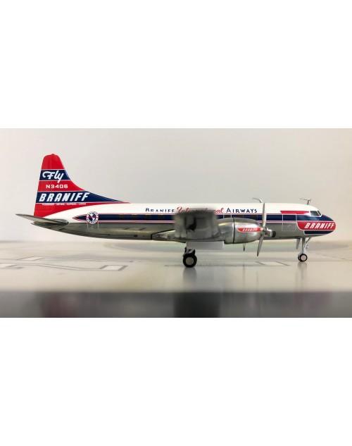 Braniff International Airways Convair 340 N3406 1/200 scale diecast Herpa Wings