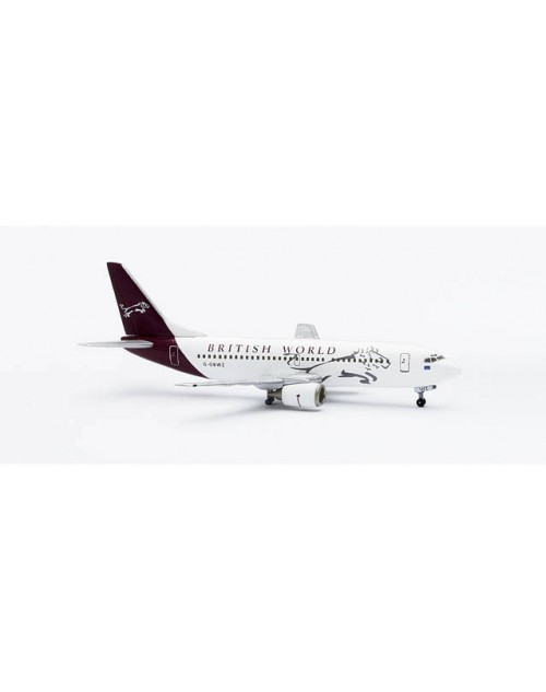 British World Boeing 737-3Q8 G-OBWZ 1/400 scale dicast Herpa Wings