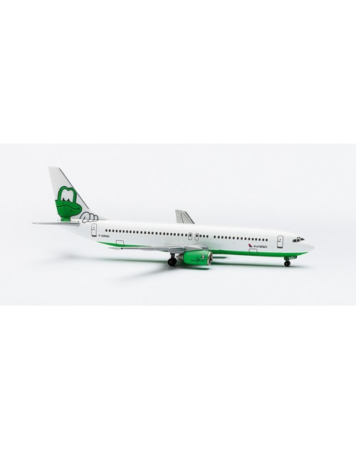 Euralair Boeing 737-85F F-GRND Green Monster 1/400 scale diecast Herpa Wings