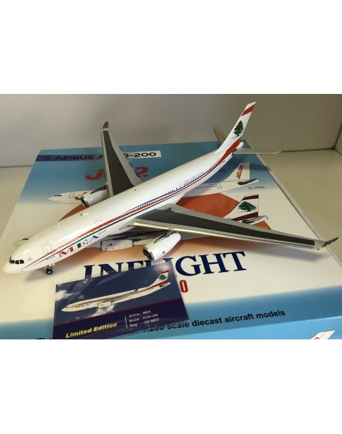 MEA Middle East Airlines Airbus A330-200 OD-MEA 1/200 scale diecast Inflight 200