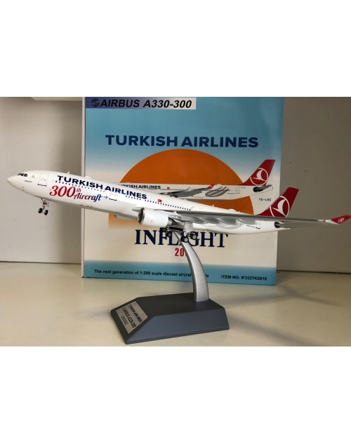 Turkish Airlines Airbus A330-303 TC-LNC 300th 1/200 scale diecast Inflight Models