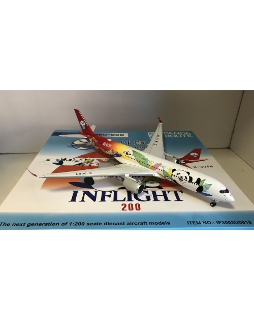 Sichuan Airlines Airbus A350-900 B-306N Panda Route 1/200 scale diecast inflight