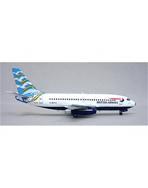 British Airways Boeing 737-236 G-BKYB England Tail 1/200 scale diecast Inflight Models