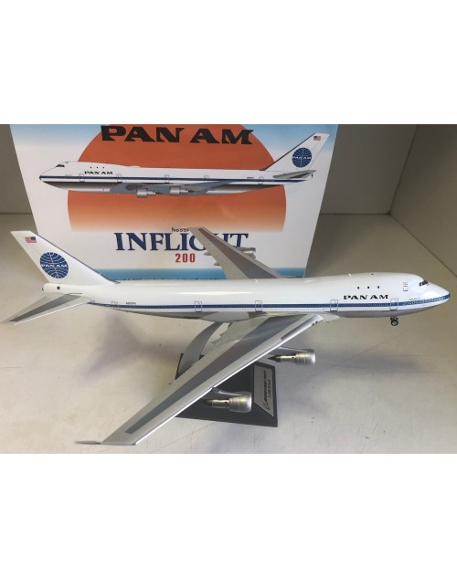Pan Am 747-121 N655PA 1970s colors polished 1/200 scale diecast inflight models
