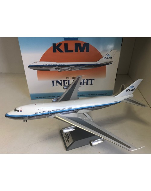 KLM Boeing 747-200 PH-BUD old colors polished 1/200 scale diecast inflight models