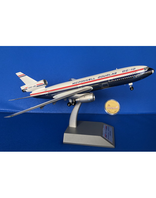 McD Douglas DC-10-10 N10DC First aircraft commemorative coin 1/200scale diecast Inflight models