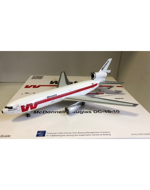 Western Douglas DC-10-10 N906WA 1/200 scale diecast Inflight Models