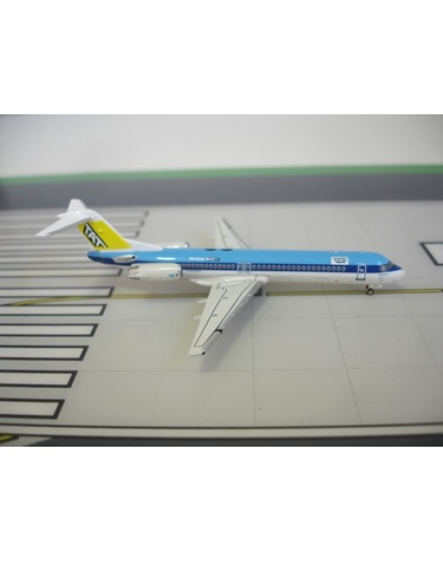 TAT - Touraine Air Transport Fokker F-100 PH-KLH KLM Hybrid 1/400 scale diecast JC Wings Models