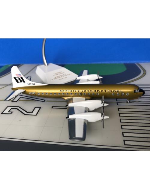Braniff Lockheed L-188C Electra N9710C Ochre 1/200 scale diecast JC Wings