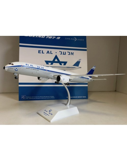 EL AL Boeing 787-9 4X-EDF Retro colors 1/200 scale diecast JC Wings