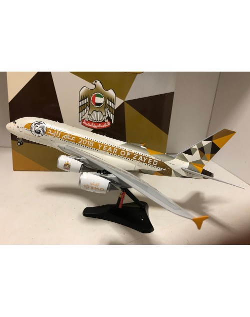 Etihad Airbus A380-800 A6-APH The Year of Zayed 2018 1/200 scale diecast JCWings