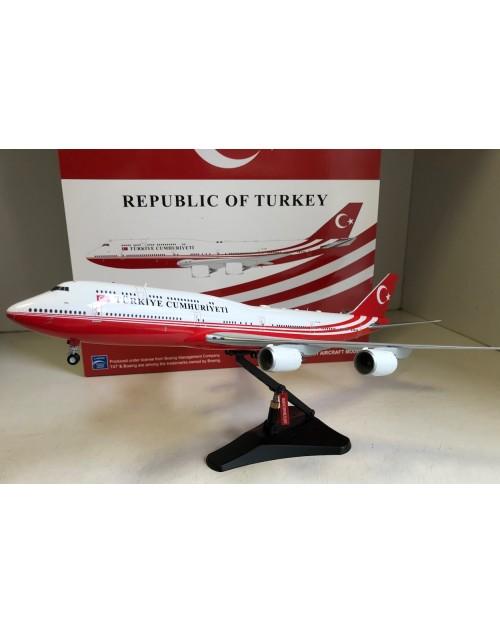 Republic of Turkey Boeing 747-8 TC-TRK 1/200 scale diecast JC Wings Models