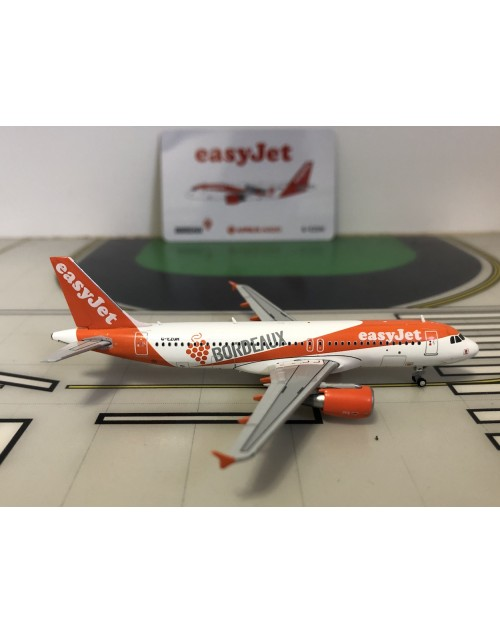 EasyJet Airbus A320 G-EZUH Bordeaux 1/400 scale diecast JC Wings