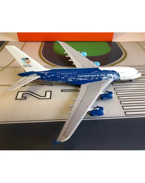HiFly Airbus A380-800 9H-MIP Not too Late for Coral Reefs 1/400 scale diecast JCWings