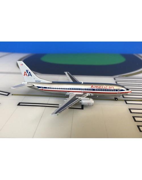 American Boeing 737-300 N678AA 1980s colors 1/400 scale dicast JCWings