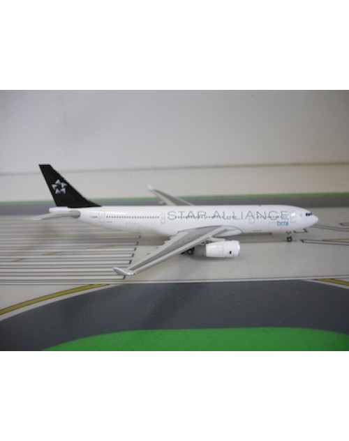 BMI - British Midland Airbus A330-243 G-WWBD Star Alliance 1/400 scale diecast JC Wings Models