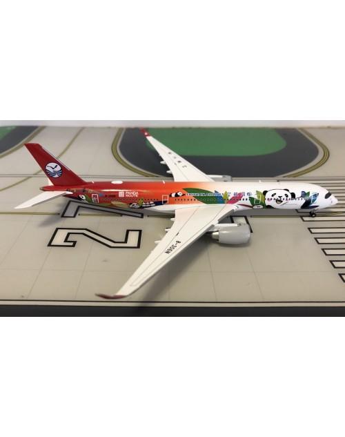 Sichuan Airbus A350-900XWB B-306N Panda Route 1/400 scale diecast JC Wings