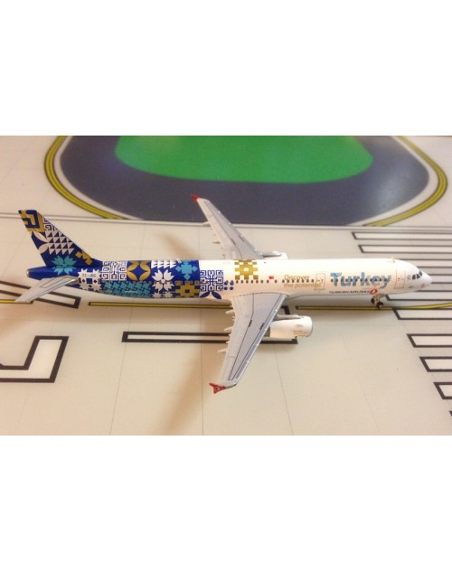 Turkish Airlines Airbus A321-231 TC-JRG Discover the Potential 1/400 scale diecast JC Wings