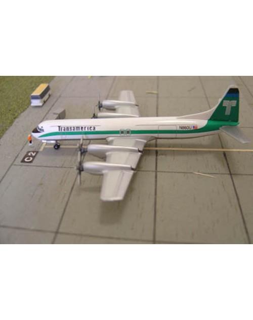 Transamerica Lockheed L-188C Electra N860U 1/400 scale diecast Jet-X/Dragon Wings Models