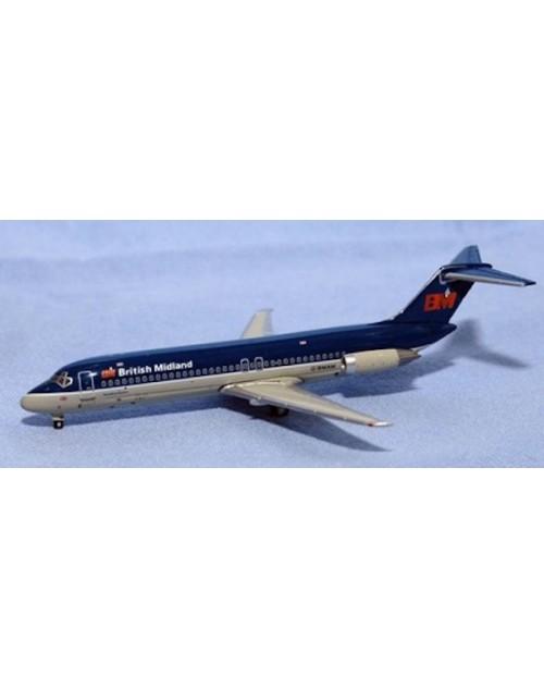 British Midland Douglas DC-9-32 G-BMAM 1/400 scale diecast Jet-X Models