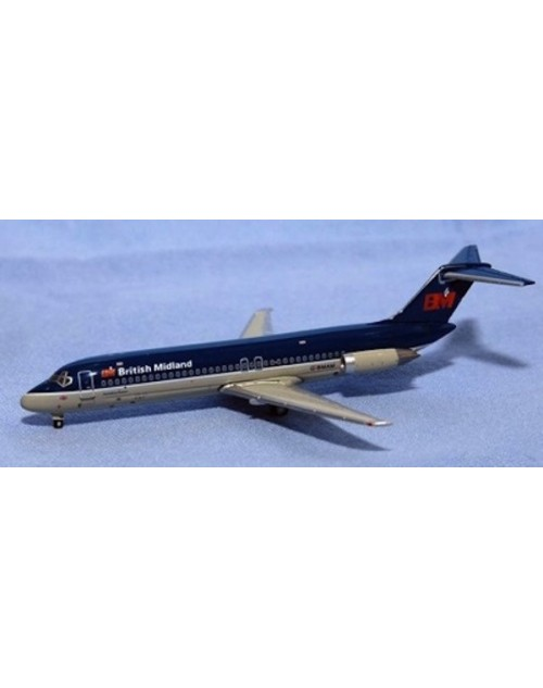 British Midland Douglas DC-9-32 G-BMAK 1/400 scale diecast Jet-X Models