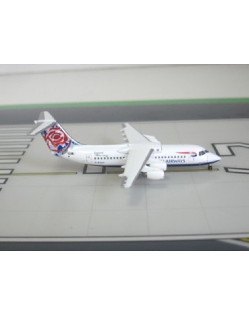 British Airways British Aerospace BAe 146-300 G-BZAV Chelsea Rose tail 1/400 scale diecast Jet-X Models