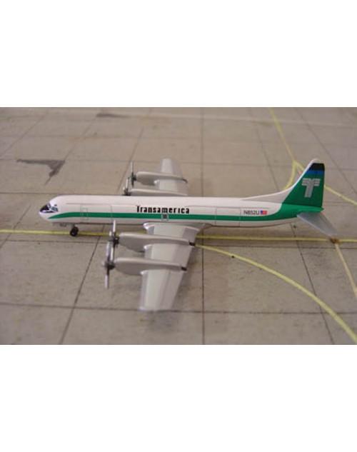 Transamerica Lockheed L-188C(F) Electra N852U 1/400 scale diecast Jet-X/Dragon Wings Models