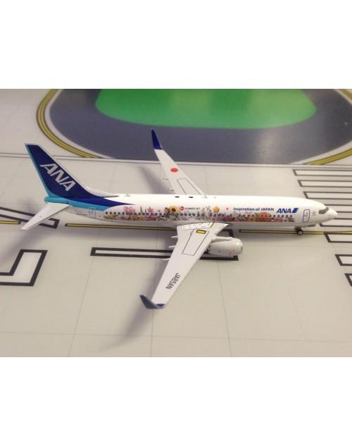 ANA - All Nippon Boeing 737-800/Winglets JA85AN Flower Jet 1/400 scale diecast Phoenix Models