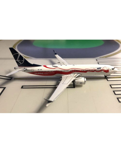 LOT Polish Boeing 737 Max-8 SP-LVD Proud of Poland's 1/400 scale diecast Phoenix