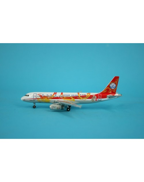Sichuan Airlines Airbus A320-200 B-6388 Dragon 1/400 diecast Phoenix Models