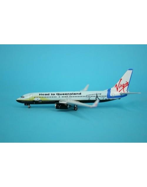 Virgin Blue Boeing 737-81Q Winglets VH-VOJ Head to Queensland 1/400 scale diecast Phoenix Models