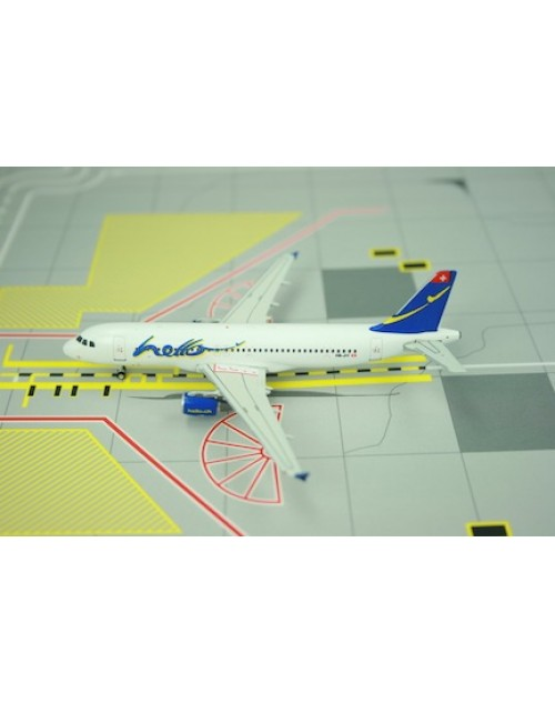 Hello Airbus A320-214 HB-JIY 1/400 scale diecast Phoenix Models